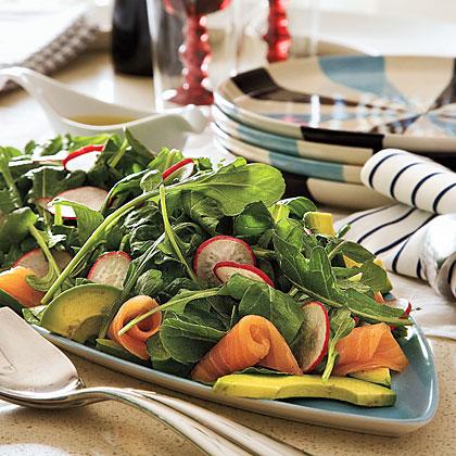 Smoked Salmon-Avocado Salad