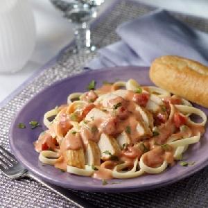 Chicken Pasta Tomato Alfredo Sauce Recipe