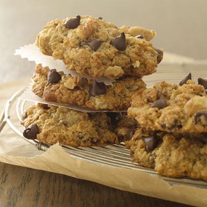 Banana-Oatmeal-Chocolate Chip Cookies