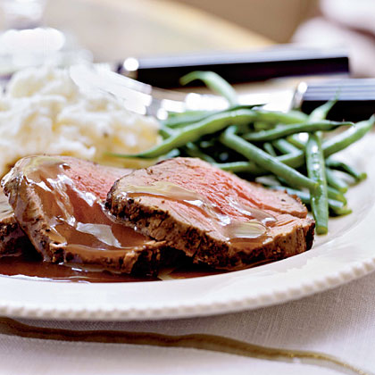 Mixed Peppercorn Beef Tenderloin with Shallot-Port ReductionRecipe
