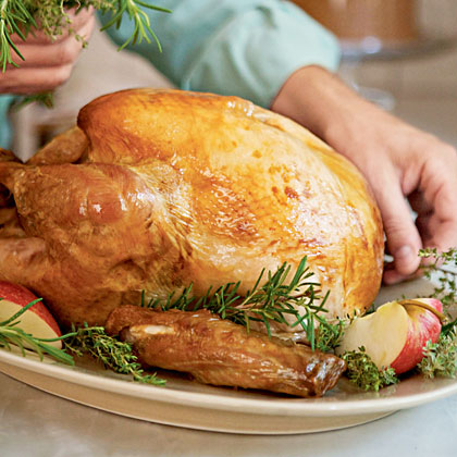Spice-Brined Turkey with Cider Pan Gravy Recipe | MyRecipes