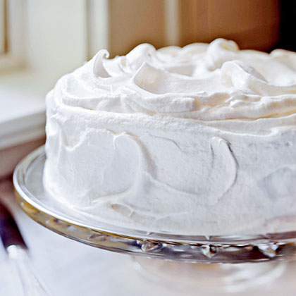 Cake Decorating Vanilla Icing : Yellow Butter Cake with Vanilla Meringue Frosting Recipe ...