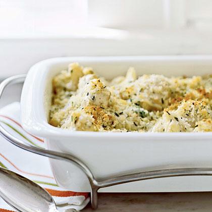 Gratin of Cauliflower with Gruyère