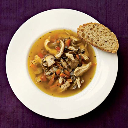 Wild Rice and Mushroom Soup with Chicken Recipe | MyRecipes