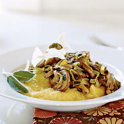 Soft Polenta with Wild Mushroom Sauté Recipe | MyRecipes