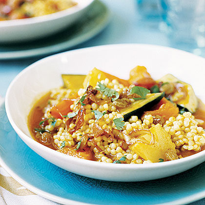 Pearl Couscous with Fall Vegetables and Caramelized Onions Recipe