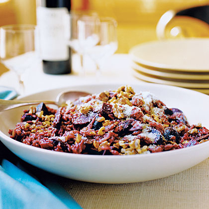 Zinfandel Risotto with Roasted Beets and WalnutsRecipe