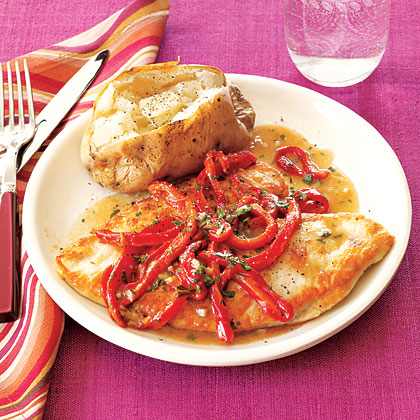 Chicken Breasts with Peppers Recipe
