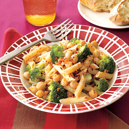 Pasta with Chickpeas and Broccoli Recipe