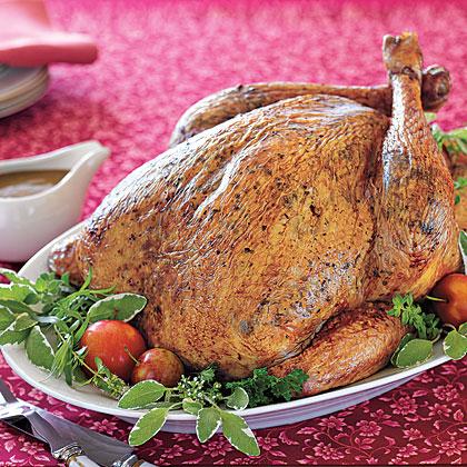 Herb-Roasted Turkey with Gravy Recipe