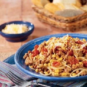 Hearty Mexican Spaghetti