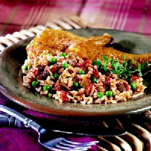 Chicken with Mushroom Rice Pilaf