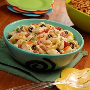 Warm Pasta Garden Salad