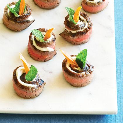 Chevre and Mango Steak Bites Recipe