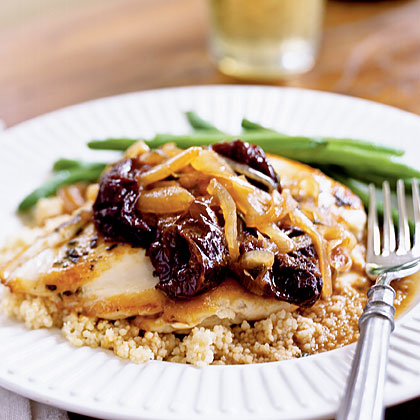 Chicken with Dried Plums and Sage