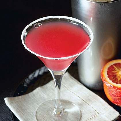 """Citrus Kiss                            RecipeThis striking red mocktail is for the citrus-lovers at your party. Blood orange sparkling cider adds a bit of fun to tangerine juice, lemon juice, and lime juice. Rim your glasses with superfine sugar to complete the """"cocktail"""" look."""