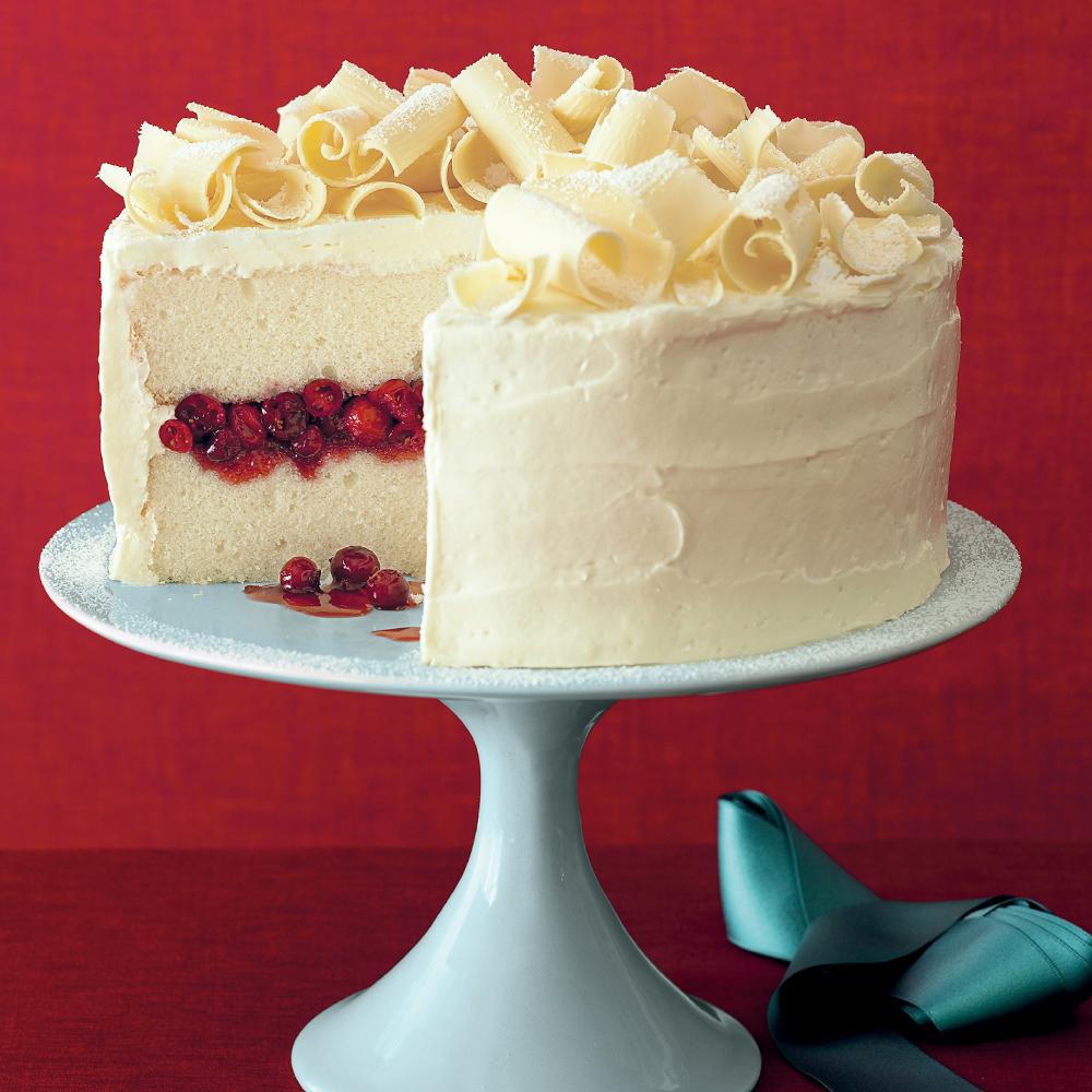 Cranberry Obsession Snow Cake Recipe Myrecipes
