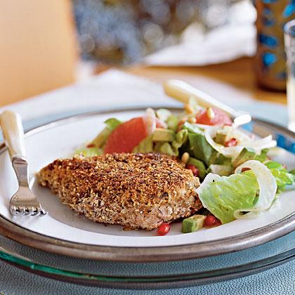 Za'atar-Crusted Chicken Schnitzel