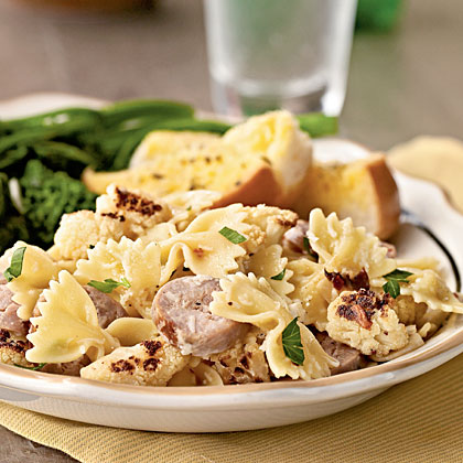 Farfalle with Cauliflower and Turkey Sausage