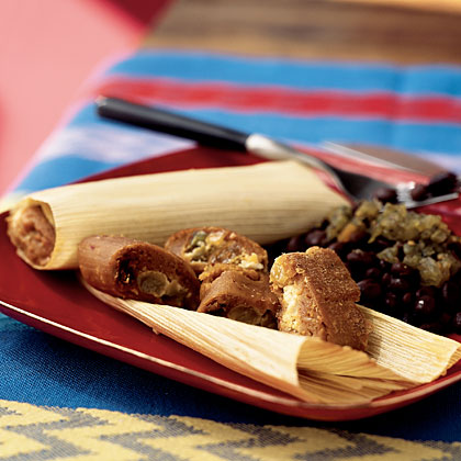 Goat Cheese Tamales with Olives and Raisins