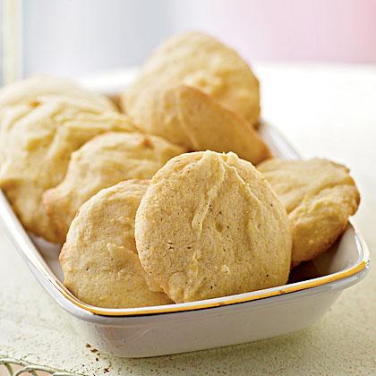 Lemon Cornmeal Cookies Recipe | MyRecipes