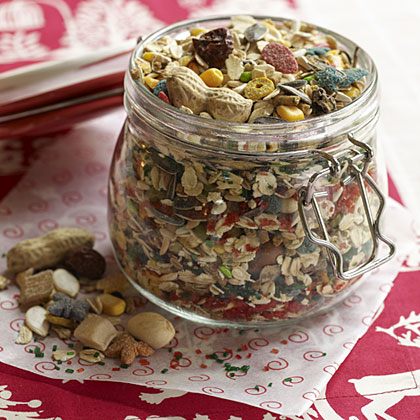 a mix of birdseeds and sugars for kids to leave for Santa's reindeer Recipe