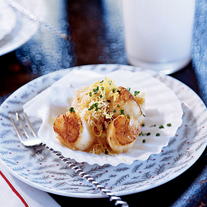 Nantucket Bay Scallops With Bay Scented Butter Recipe