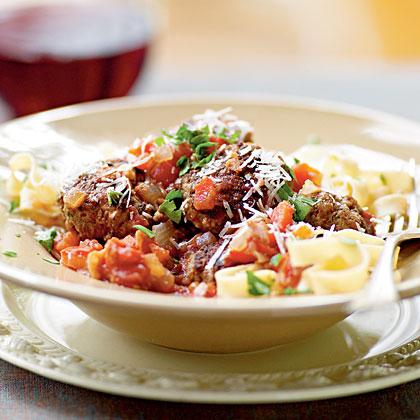 Smoky Meatballs in Serrano Ham–Tomato Sauce