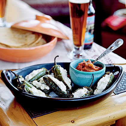 Goat Cheese–Stuffed Jalapeños with Ranchero Sauce