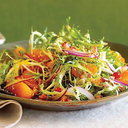 Frisée, Tangerine, and Sesame Salad