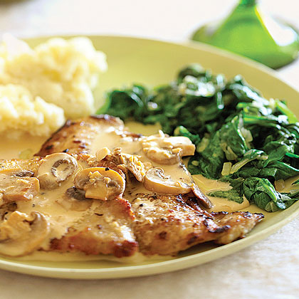 Veal Scaloppine with Mushroom Marsala Sauce