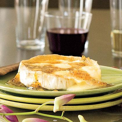Warm Brie With Ginger-Citrus GlazeRecipe