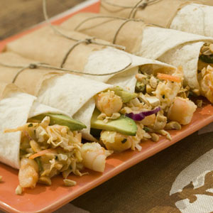 Spicy Shrimp-Avocado Mayonnaise Wraps