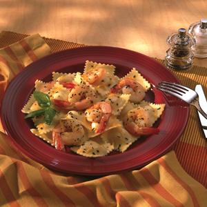 Microwave Shrimp Ravioli