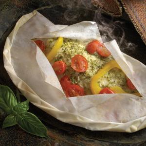 Pesto Snapper en Papillote