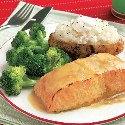 Maple-Glazed Salmon Fillets Recipe