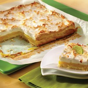Tropical Meringue Dessert Squares