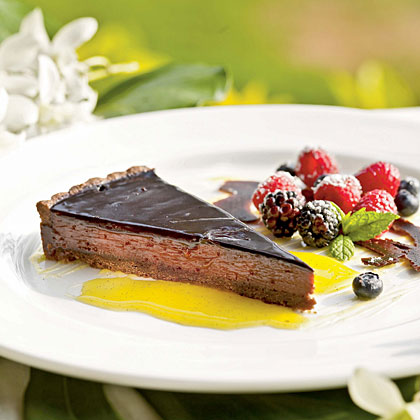 Waialua Chocolate Tart with Sable Crust