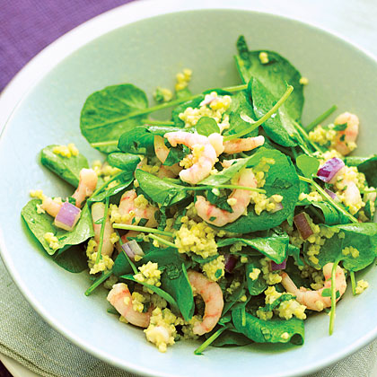Shrimp, Watercress, and Millet Salad