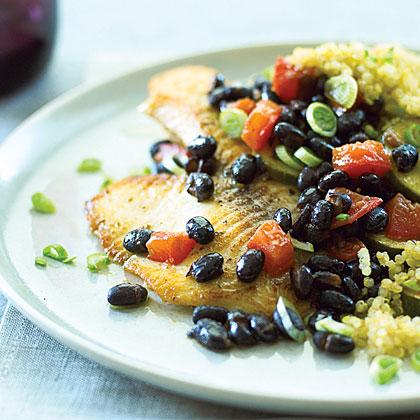 Tilapia with Quinoa & Black Beans