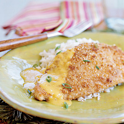 Nut-crusted Yellowtail Snapper with Mango-Butter Sauce