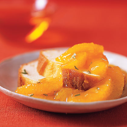 Pound Cake with Oranges, Honey, and Rosemary Recipe
