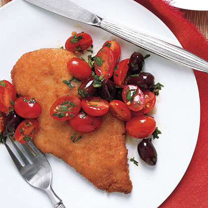Chicken Breasts with Tomato Olive Salad Recipe