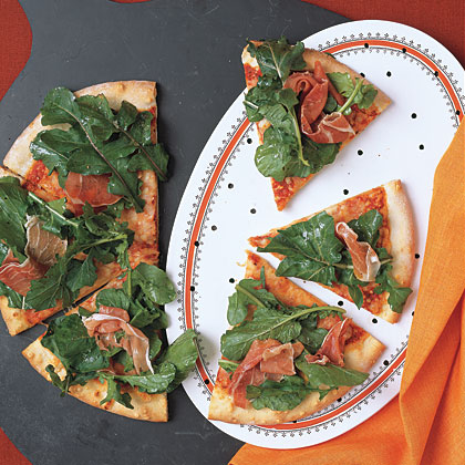 Pizza with Arugula and Prosciutto