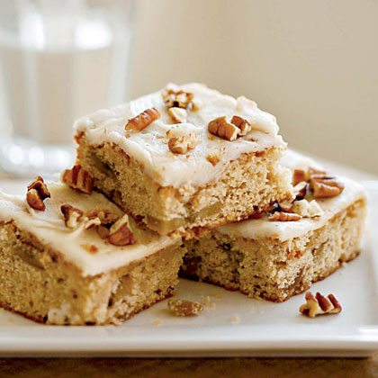 Roasted Banana Bars with Browned Butter–Pecan FrostingRecipe