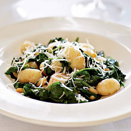 Brown Butter Gnocchi with Spinach and Pine Nuts Recipe MyRecipes