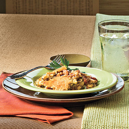 Chicken-Chile Cobbler With Smoked Sausage and Black-eyed Peas