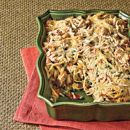 Chicken Tetrazzini With Prosciutto and Peas