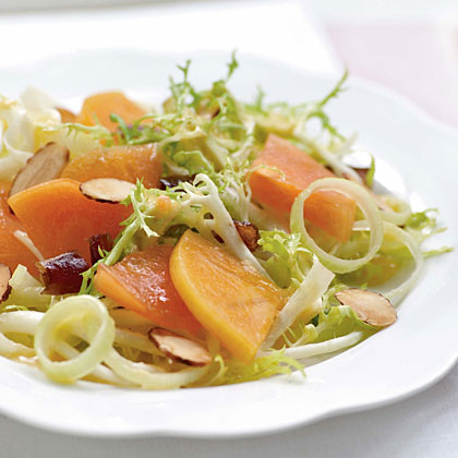 Frisée Salad with Persimmons, Dates, and AlmondsRecipe
