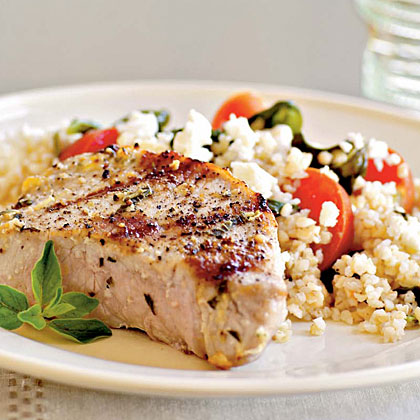 Pork Chops Oreganata